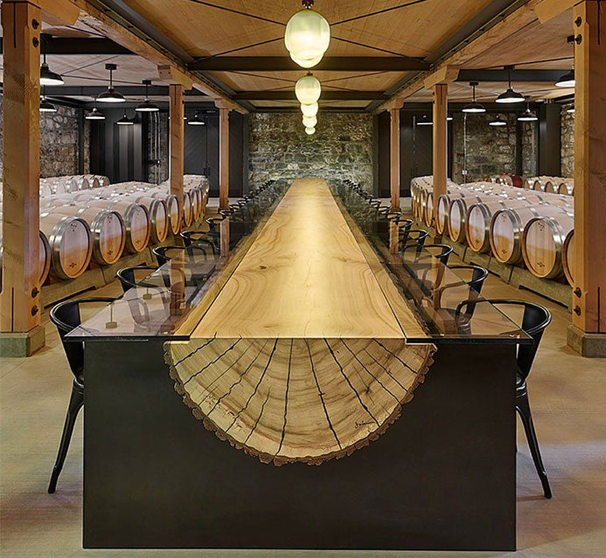 18 des plus belles et inventives tables du monde tronc - Maison en tronc d arbre ...