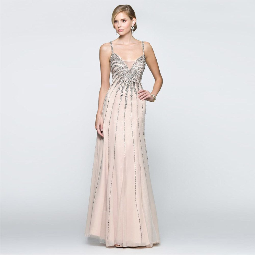 Click to buy ucuc custom made champagne long evening dresses