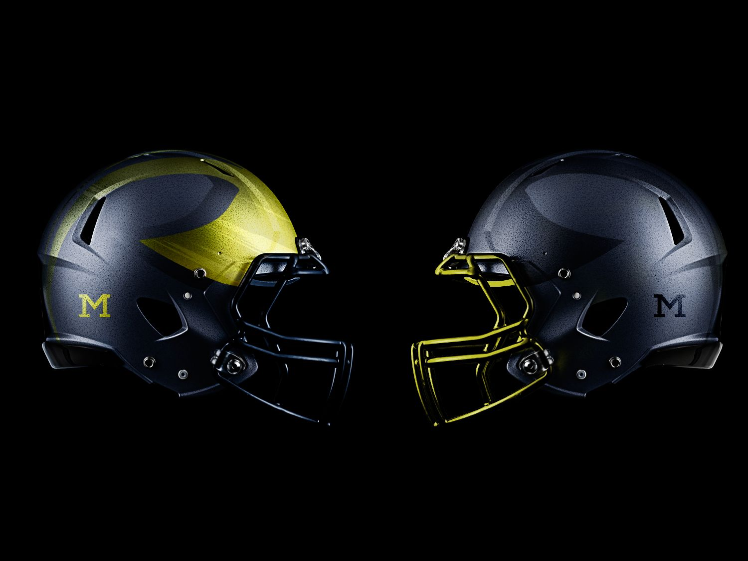 Pin by Bill McClain on GO BLUE! College football helmets