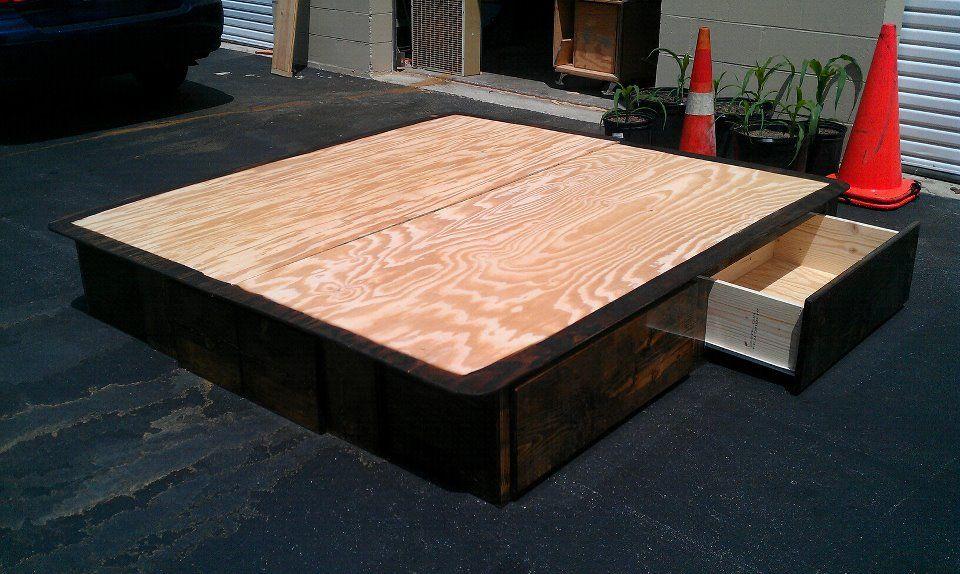 Latest creation. Drawer pedestal for king size bed. In dark walnut ...