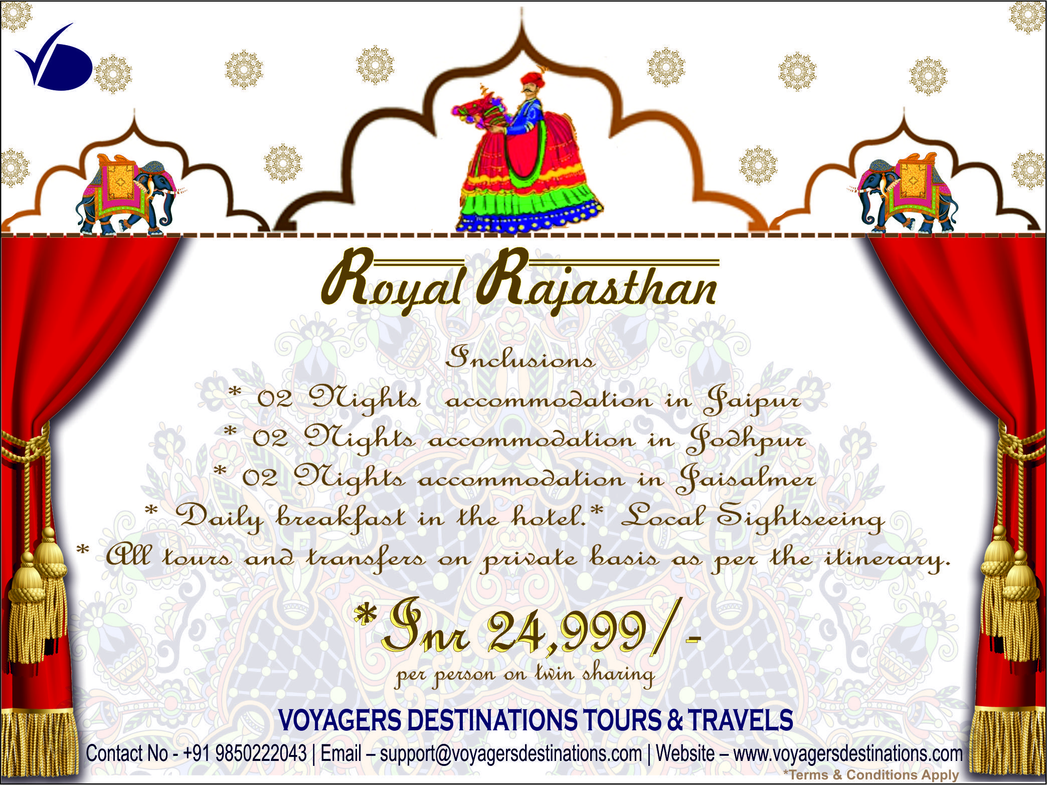 Glimpses of royal rajasthan package affordable price on