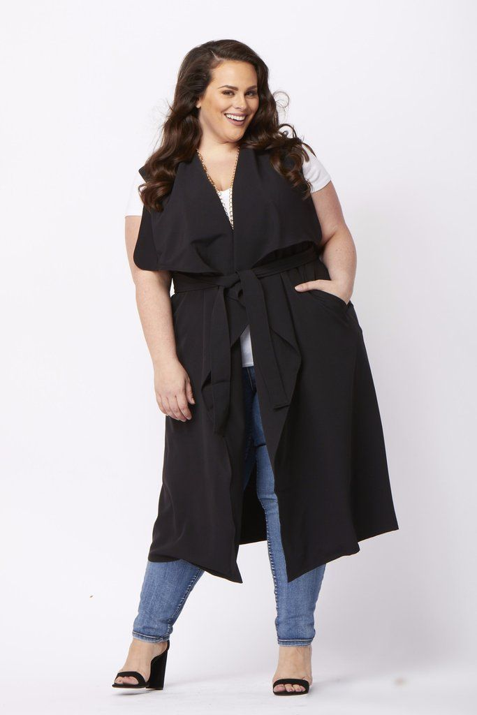 Plus Size Clothing for Women - Chicest Of Them All Vest - Black - Society+ - Society Plus - Buy Online Now! - 1
