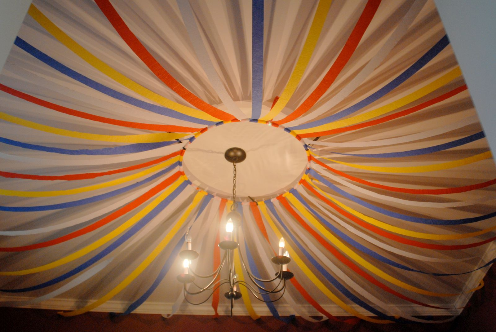 Streamer ceiling decoration ideas google search party for Ceiling streamers