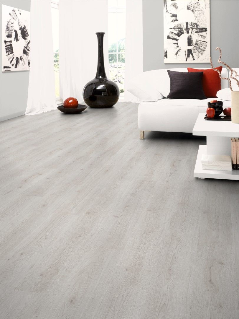 Kronotex Standard 7mm Oak White Laminate Flooring Home