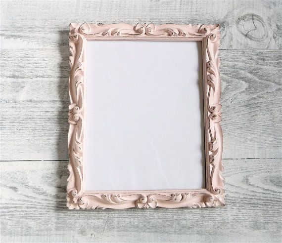 Shabby Chic Pink Painted and Distressed 8x10 Frame with Glass and ...
