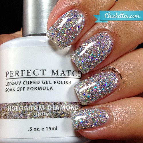 Glitter Gel Nail Polish: Chickettes.com - LeChat Hologram Diamond