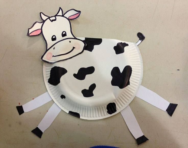 Cow Paper Plate Craft 2 Farm Theme Day Pinterest Paper Plate