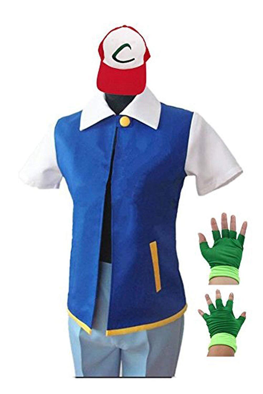 Pokemon Ash Ketchum Trainer Costume Cosplay Shirt Jacket
