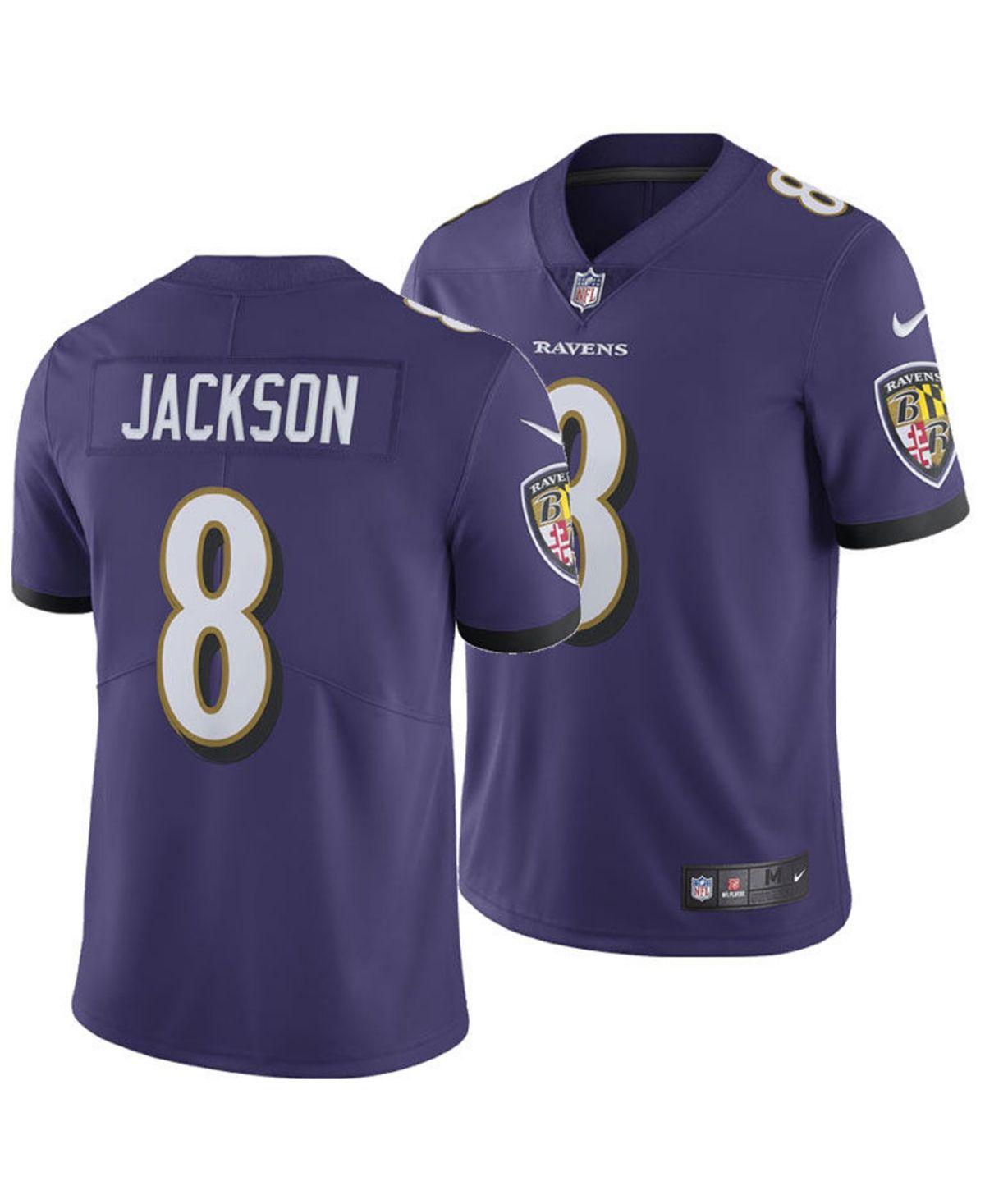 Nike Men's Lamar Jackson Baltimore Ravens Limited Jersey - Purple ...