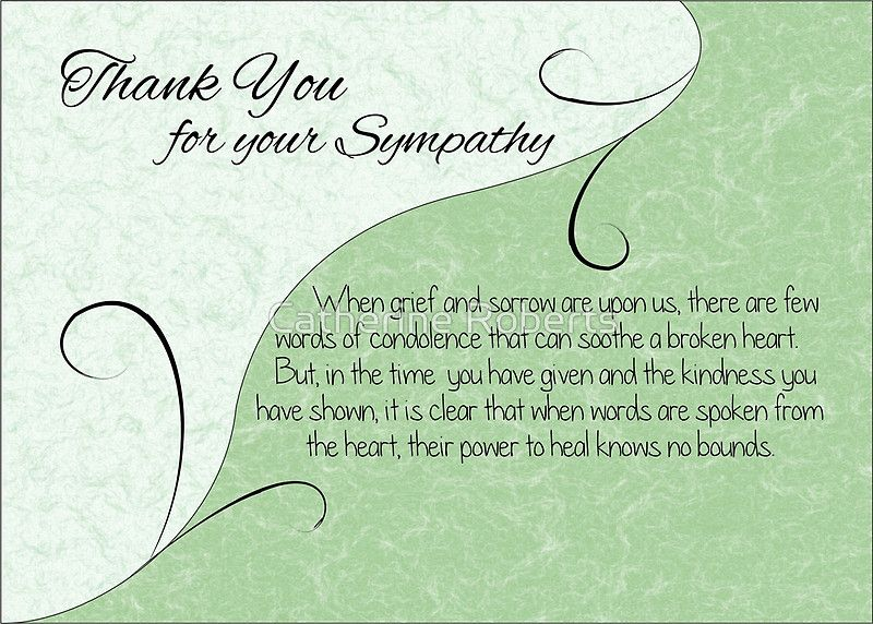 How To Word Sympathy Thank You Cards Ideas  Thank You Cards