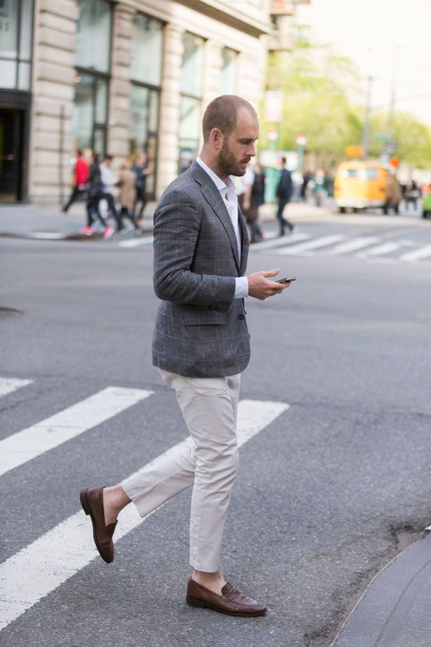 Street Style: Carson Street Clothiers Window Pane Check Blazer and Loake Penny Loafers: The Daily Details: Blog