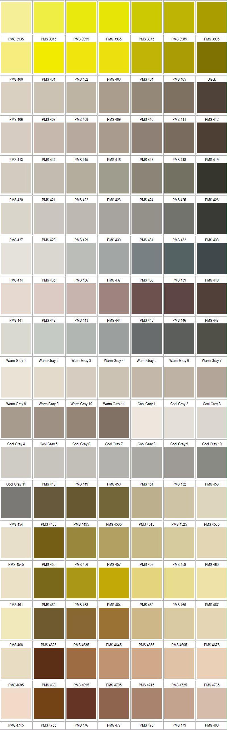 Pantone grey pinteres - Farbmuster wandfarbe ...