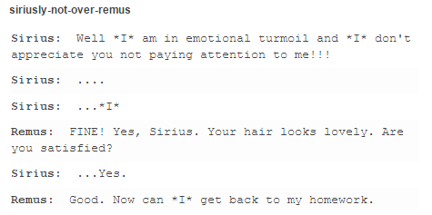 Sirius and Remus - the marauders