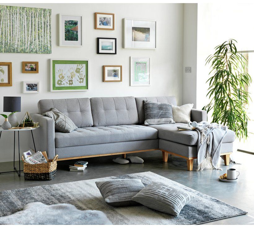 Buy Hygena Aliso Reversible Corner Chaise Sofa Light Grey Sofas Argos Light Gray Sofas Grey Laminate Flooring Living Room Blue Corner Sofas