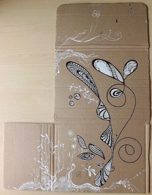 Desenho na caixa