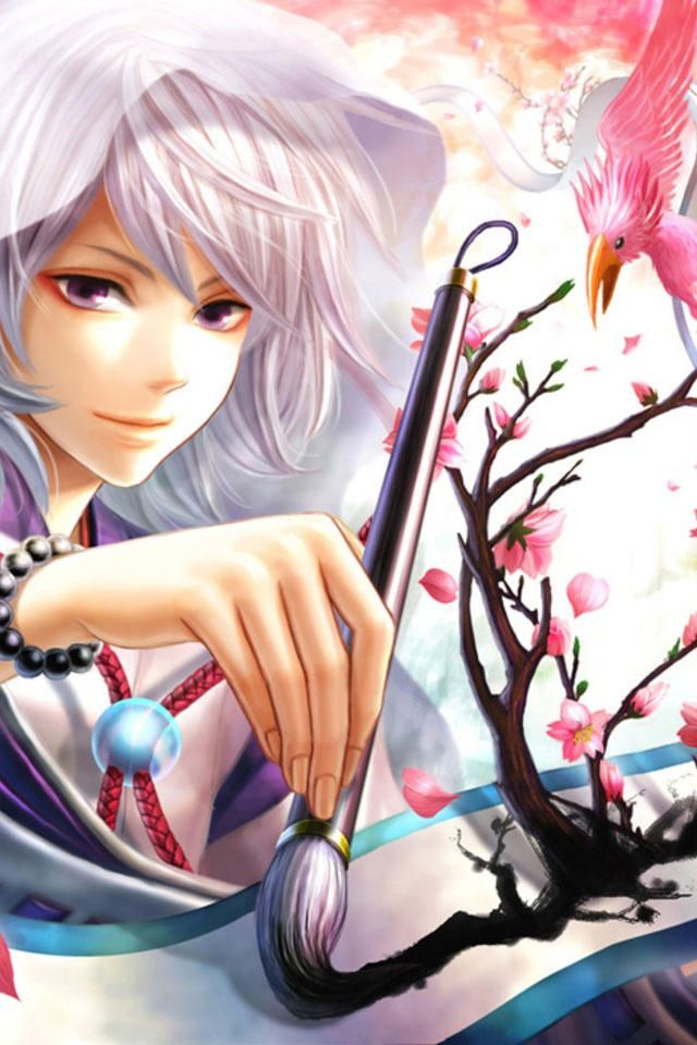 Calligraphy Boy Doing The Traditional Arts Attractively Anime Wallpaper Anime Anime Art