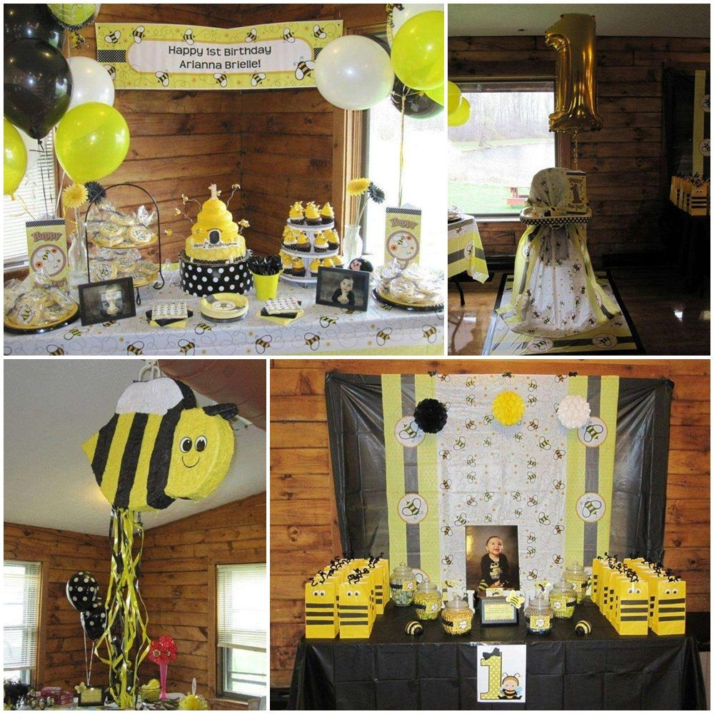 Bumble Bee Birthday Theme Ideas Gender Reveal Party Supply