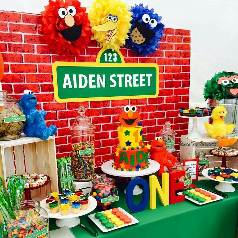 Pin On Sesame Street Theme Parties