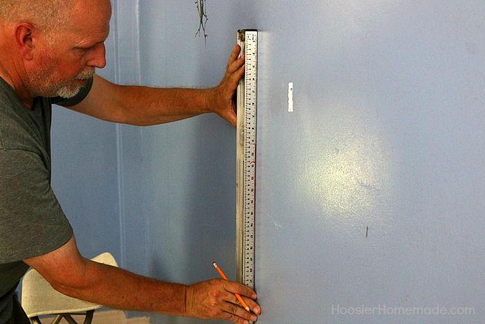 Measuring Shiplap Wall