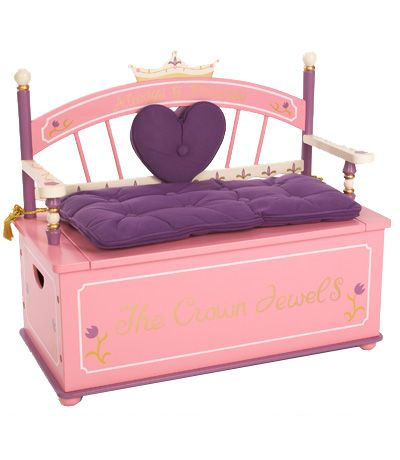 A Place For Your Little Princess To Sit And Store Her Toys