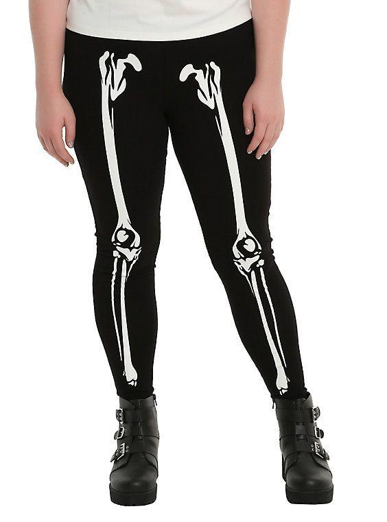 c233887a3e3bb Blackheart Skeleton Glow-In-The-Dark Leggings Plus Size | That's my ...