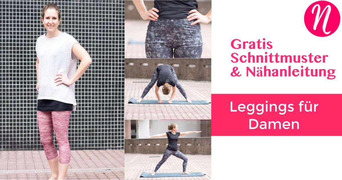 Damen-Leggings - Freebook | Nähen | Pinterest | Nähen, Kleid nähen ...