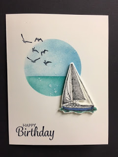 My Creative Corner!: Sailing Home, Here's a Card, Masculine Birthday Card, Stampin' Up!, Rubber Stamping, Handmade Cards #stampshandmade