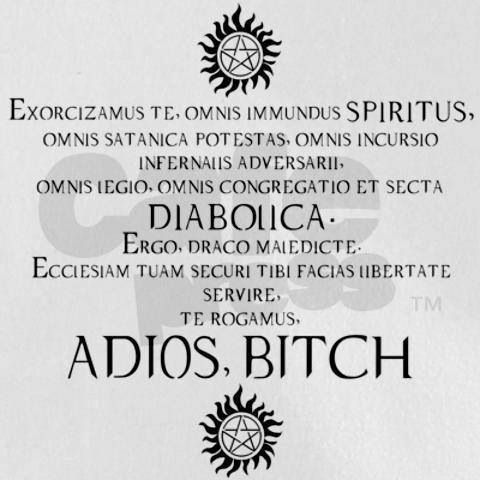 Latin incantation to exorcise a demon | Funny Shit | Supernatural