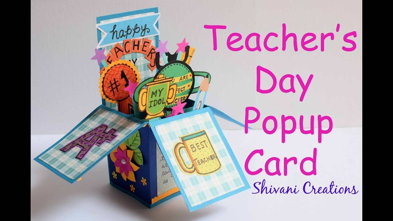 Diy Teacher S Day Popup Card How To Make Teacher S Day Card Popup Box Card Https Cstu Io 689b21 Teachers Day Card Teachers Diy Teachers Day
