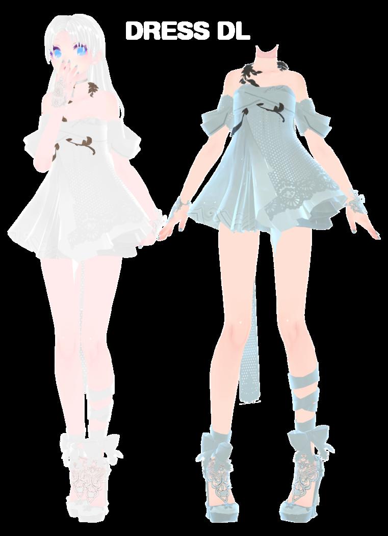MMD] Dress DL~ by UnluckyCandyFox deviantart com on