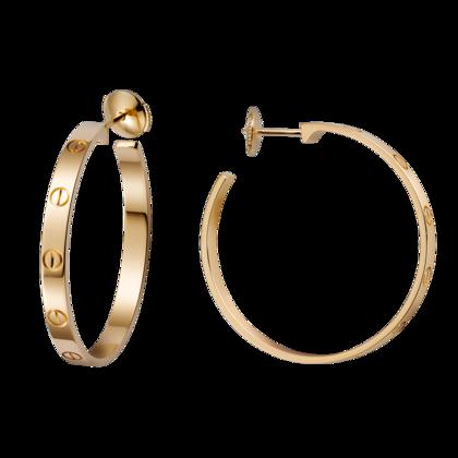 bf16be4897335 LOVE earrings - Yellow gold hoops - Cartier   Jewelry in 2019 ...