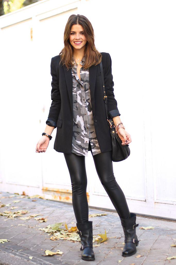2771092aeff How to Wear Black Leather Leggings - Lena Penteado