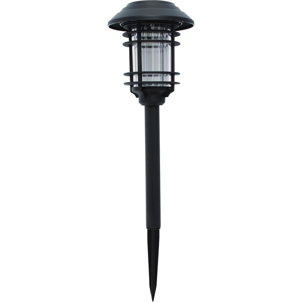 12 For A Pack Of 6 Hampton Bay Black Solar Led Pathway Outdoor Light