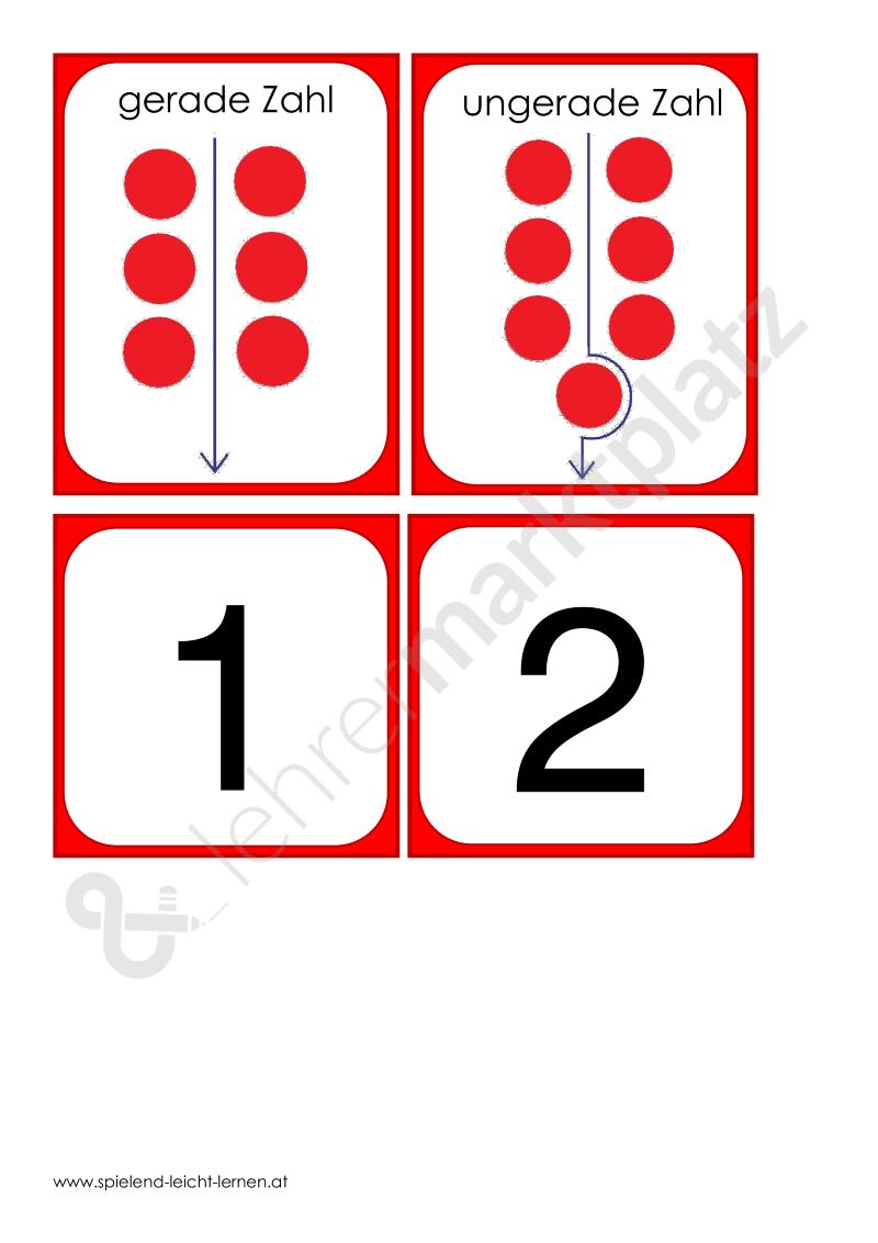 Gerade oder ungerade Zahlen im ZR 100 – Kita, Mathematik | Pinterest ...