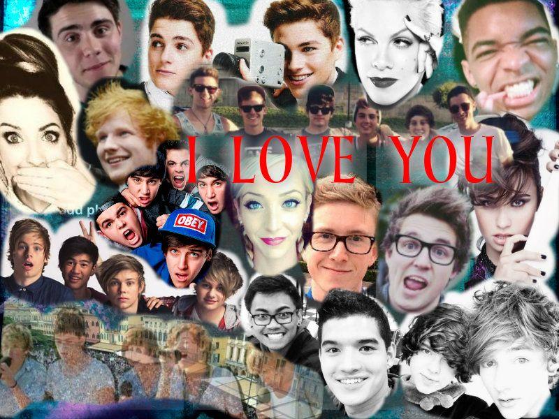 My collage:) ~One Direction, Ed Sheeran, Alfie Deyes, P!nk ...