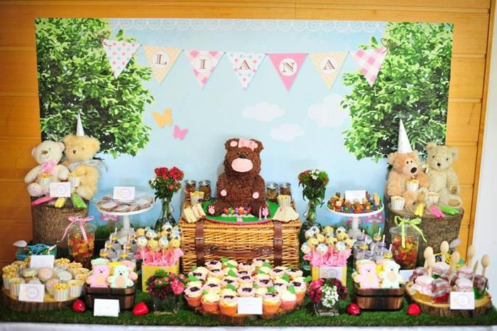 Teddy Bear Picnic via Kara\'s Party Ideas | Kara\'s Party Ideas ...