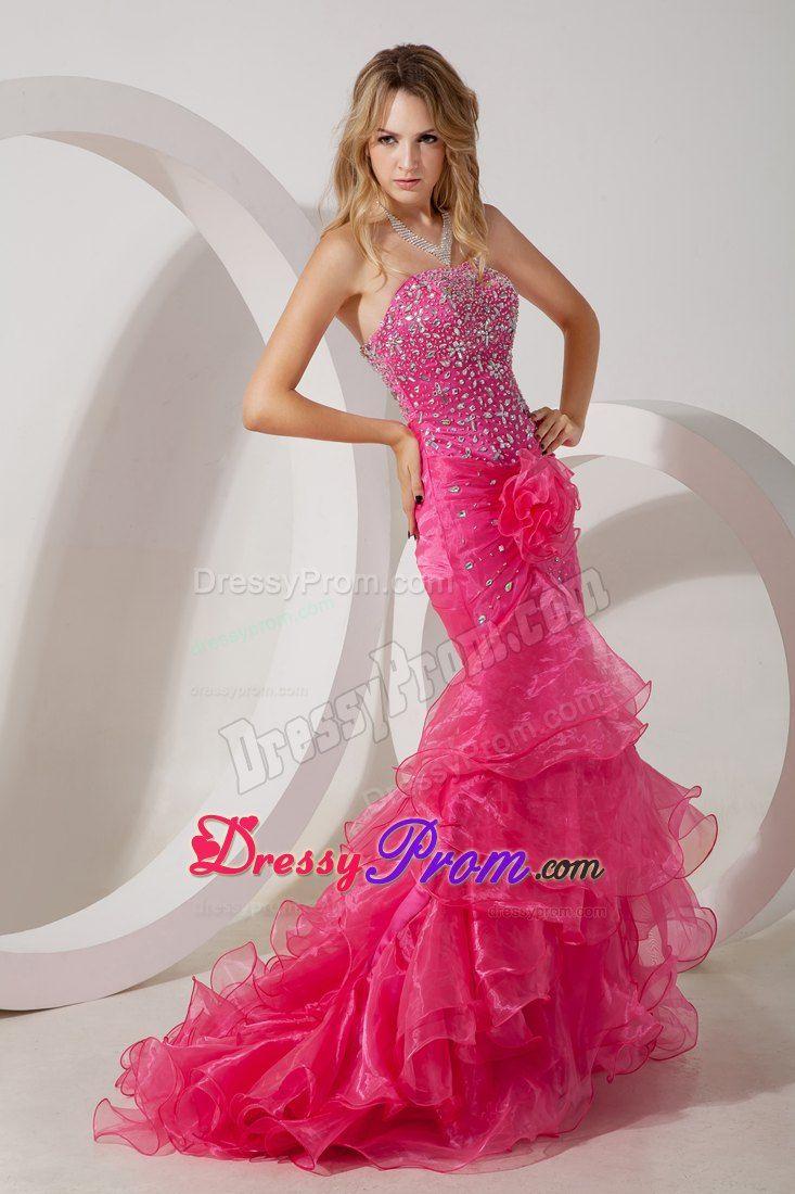 Pink Mermaid Prom Dress Photo Album - Reikian