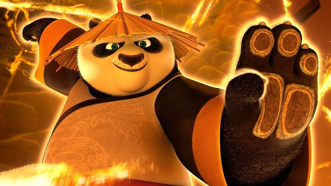 Po characters kung fu panda vignette