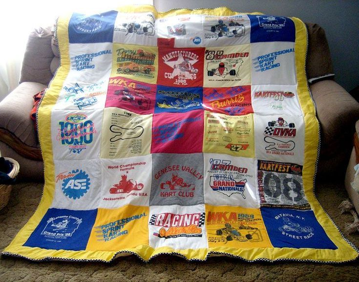 Pictures of T-Shirt Quilts Help You Design a Quilt