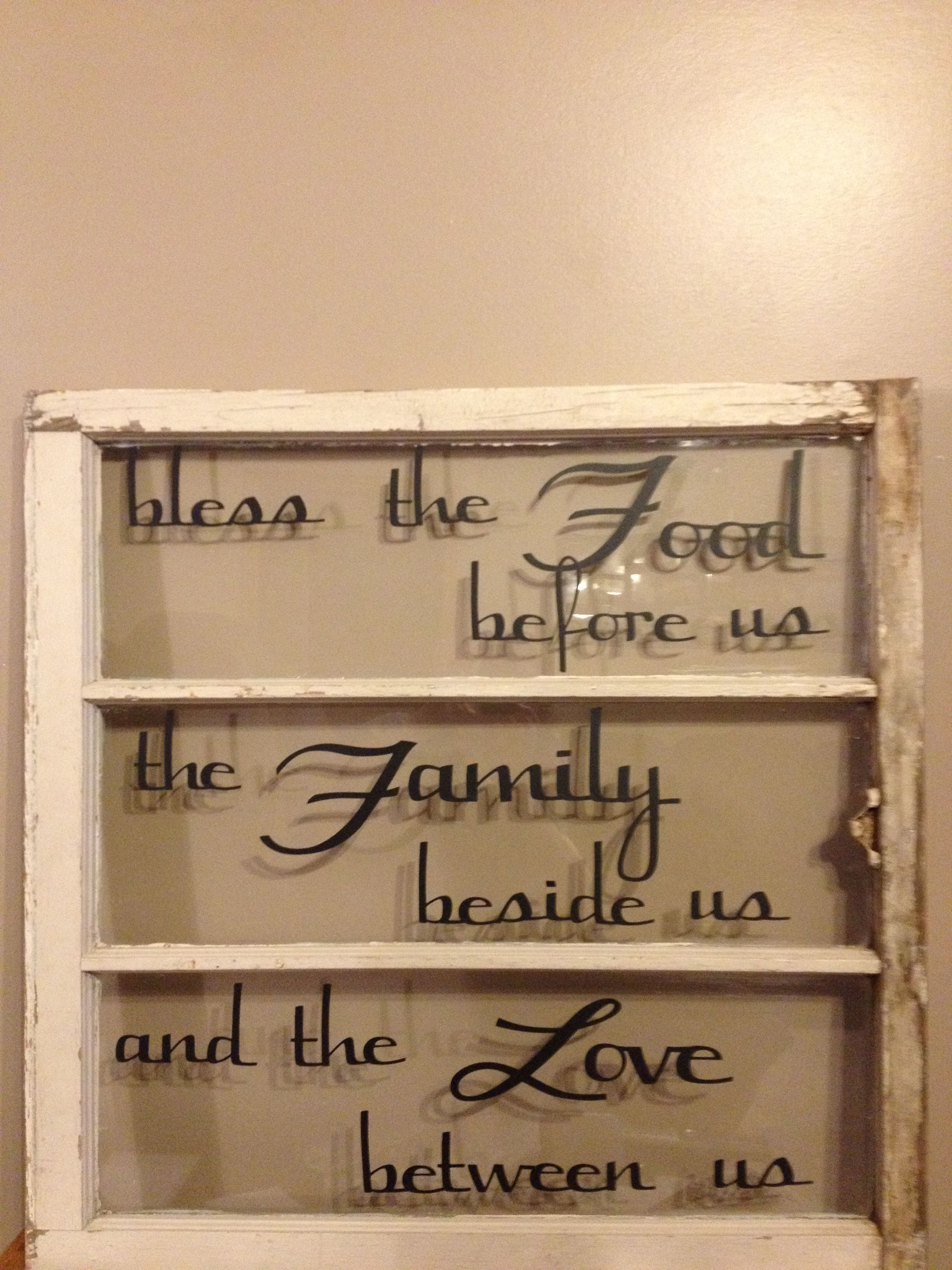 Old Window And Vinyl Letters Cut With Cricut Old Windows