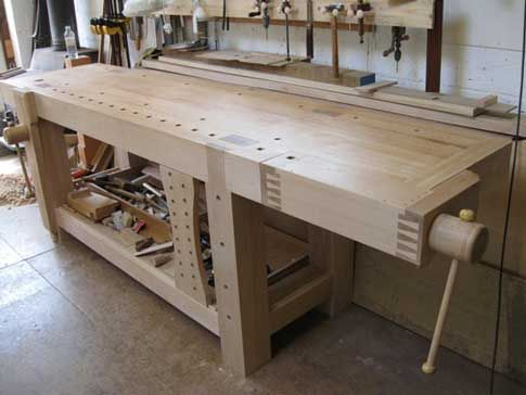 Maple Workbench With Shoulder Vise Workbenches