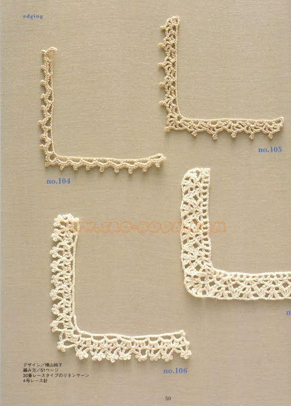 Pin de Elizabeth Aboy en puntillas crochet | Pinterest | Ganchillo ...