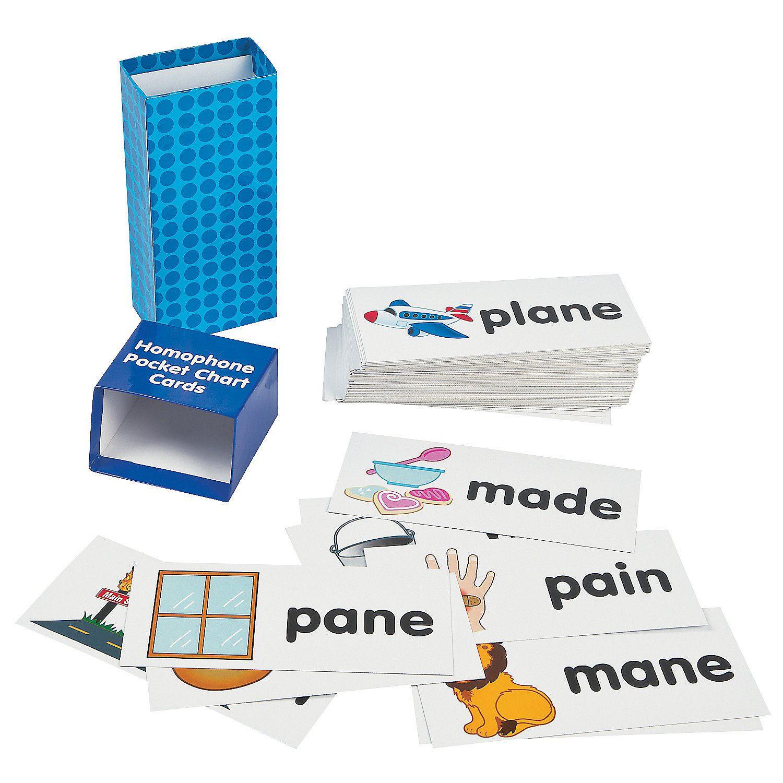 Homophone Pocket Chart Cards
