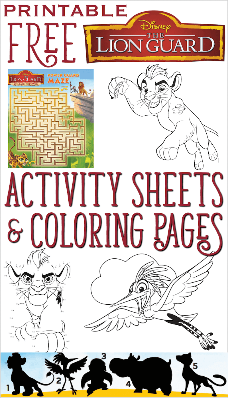 free the lion guard printables coloring and activity