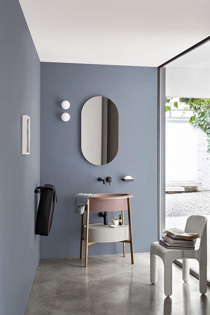 miroir ovale mural pour salle de bain i