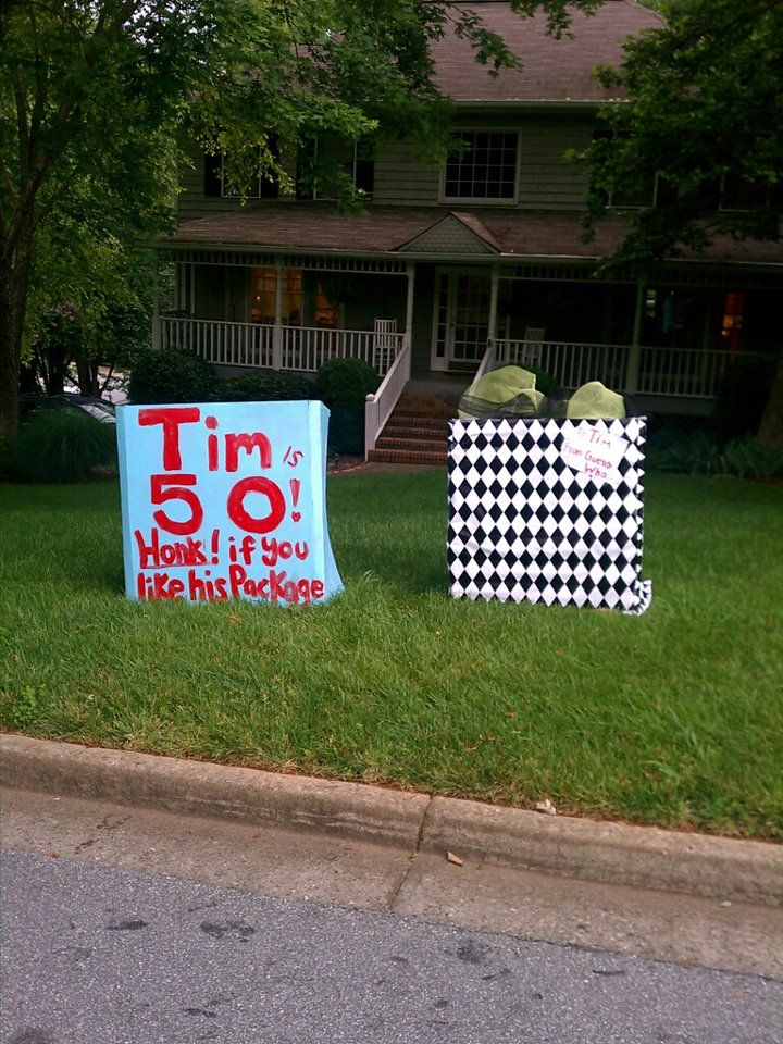 50th Birthday Yard Surprise 50th Birthday Diy 50th Birthday Decorations 50th Birthday Funny