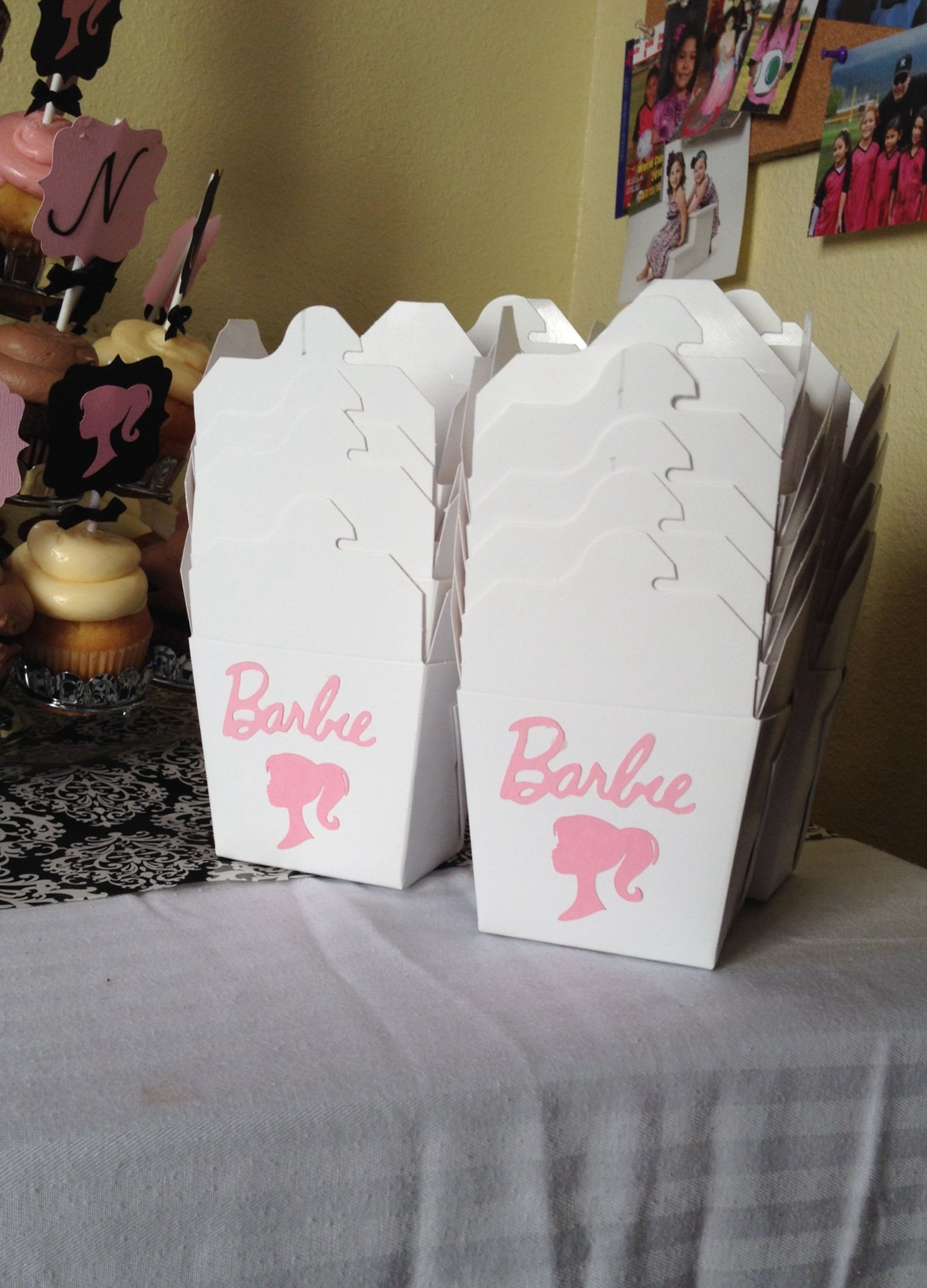 Candy boxes - Chinese take out boxes from Smart & Final. Barbie die ...