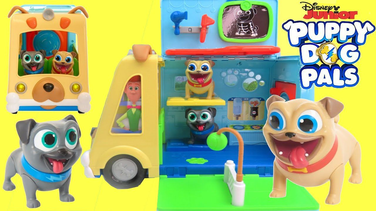 Puppy Dog Pals Awesome Bus Toy Vehicle Playset Bingo And Rolly Pups Dogs And Puppies Playset Puppies
