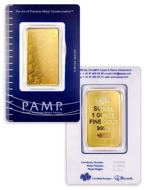 Pamp Suisse 1 Oz 9999 Gold Bar Plain Design Sealed W Assay Certificate Sku32617 Ebay Gold Bars For Sale Gold Bar Gold