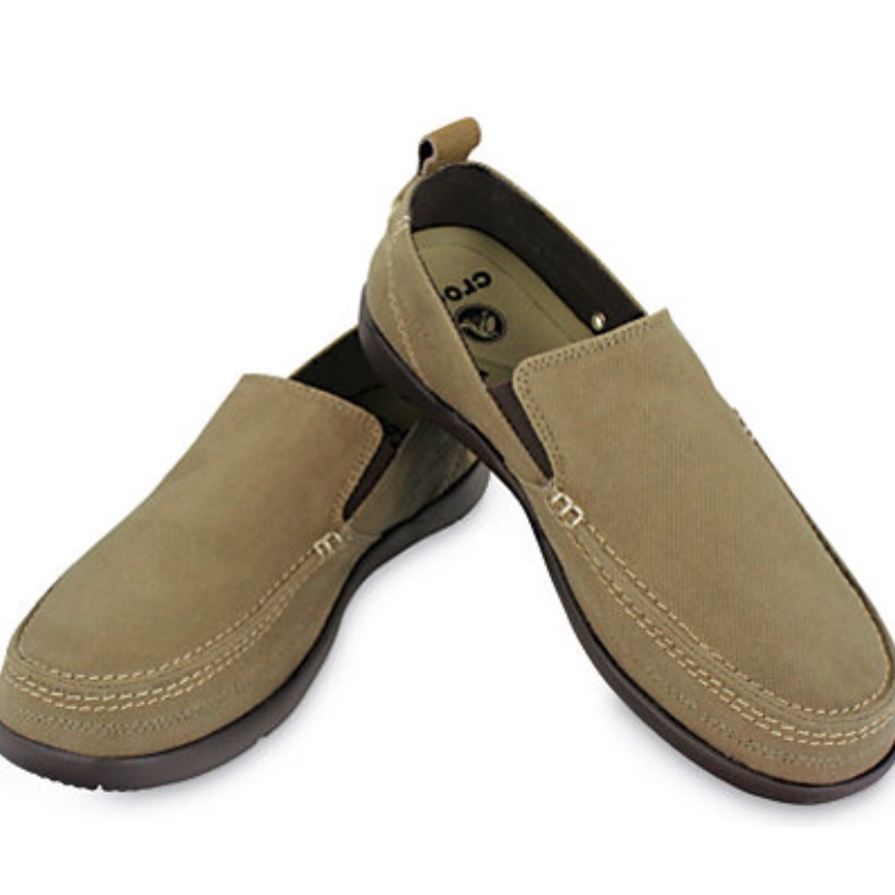 CROCS Shoes | New Crocs Loafers Santa Cruz Walu Khaki Boat